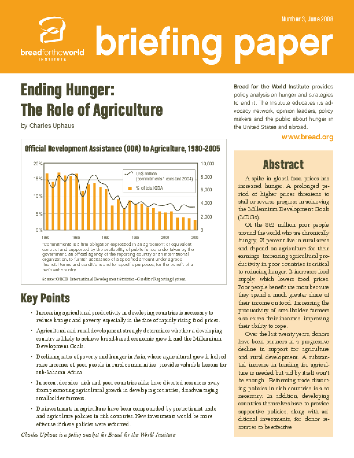 Ending Hunger: The Role of Agriculture
