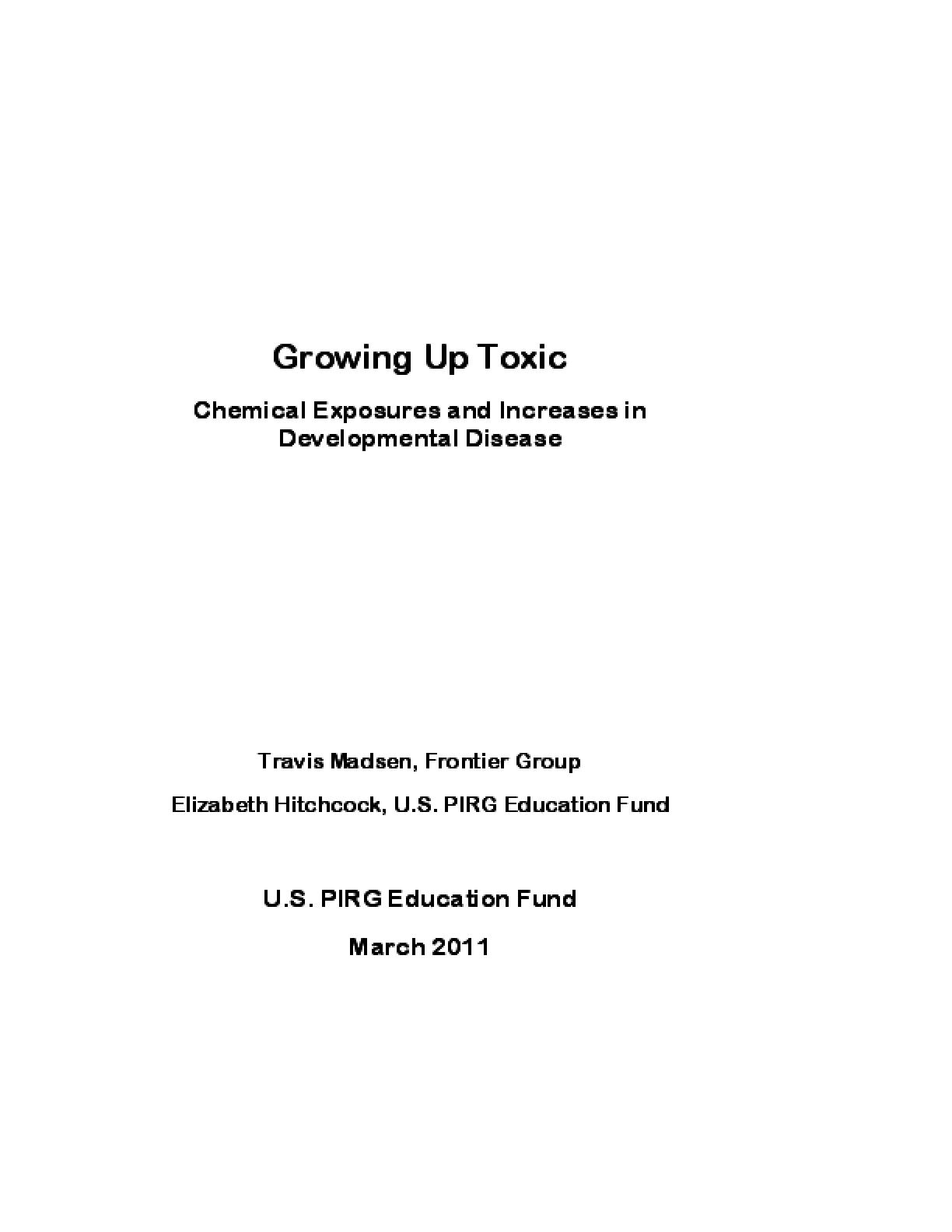 Growing Up Toxic: Chemical Exposures and Increases in Developmental Disease