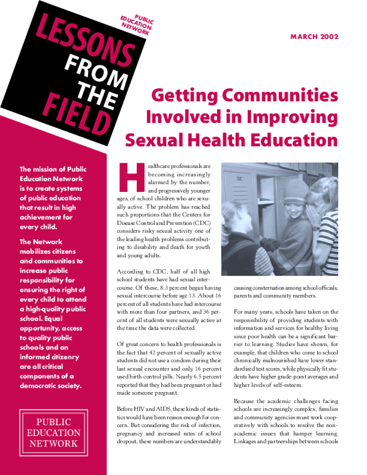 Getting Communities Involved in Improving Sexual Health Education