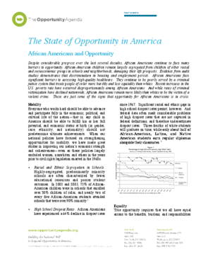 African Americans and Opportunity