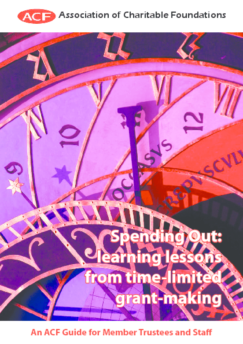 Spending Out: Learning Lessons from Time-Limited Grant-making