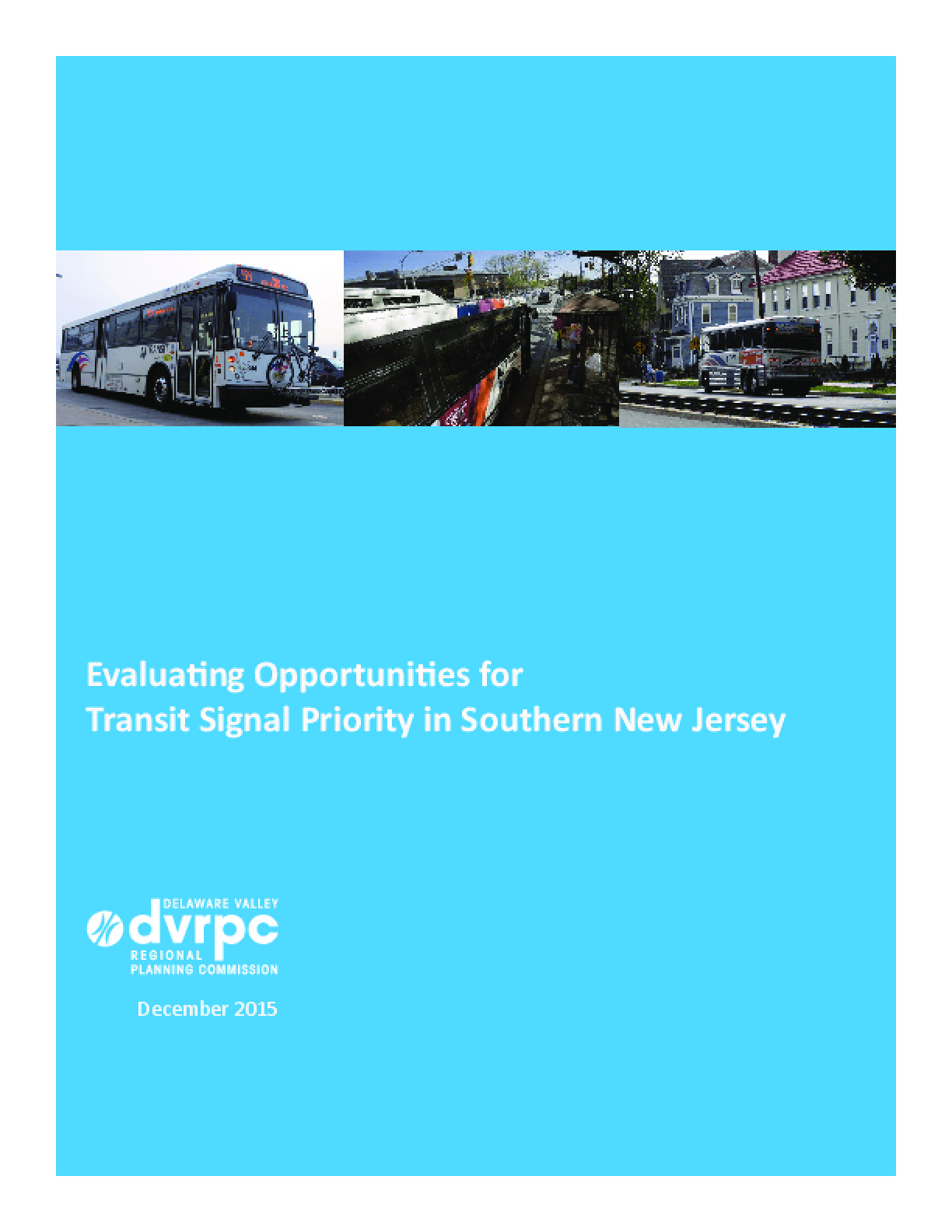 Evaluating Opportunities for Transit Signal Priority in Southern New Jersey