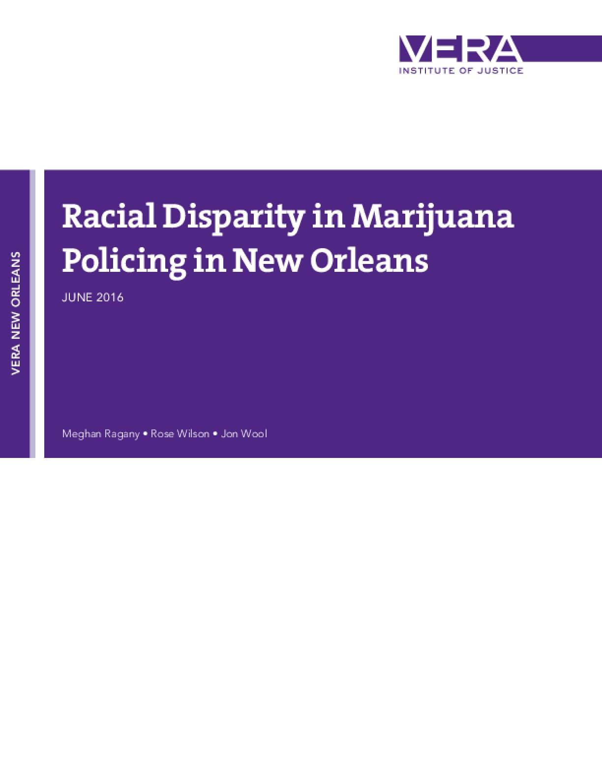 Racial Disparity in Marijuana Policing in New Orleans