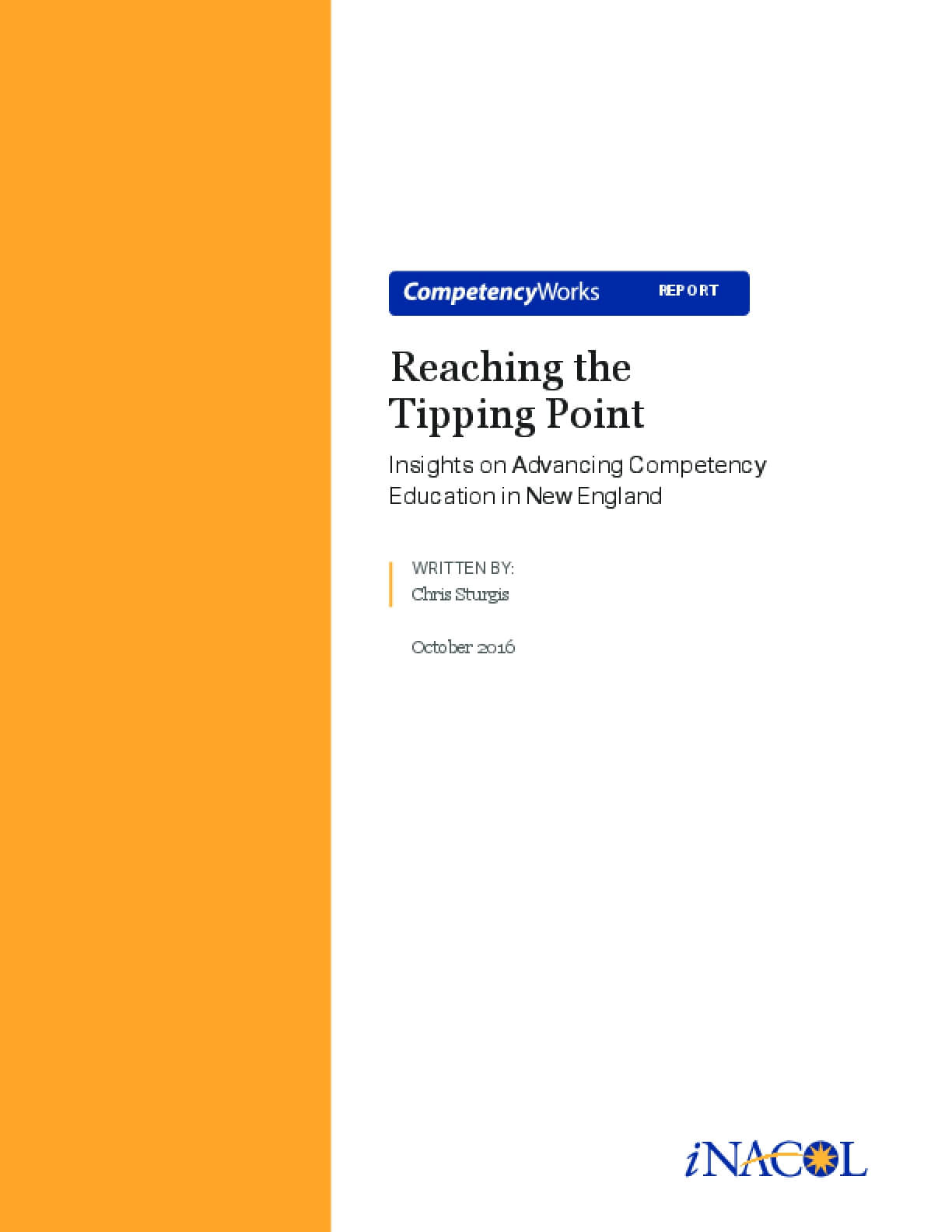 Reaching the Tipping Point: Insights on Advancing Competency Education in New England