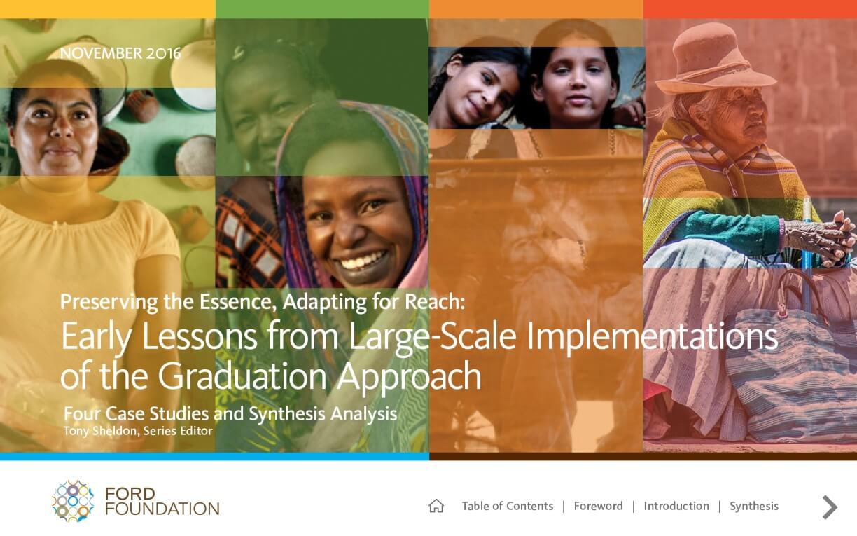 Preserving the Essence, Adapting for Reach: Early Lessons from Large-Scale Implementations of the Graduation Approach, Four Case Studies and Synthesis Analysis