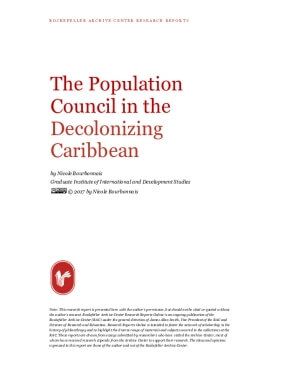 The Population Council in the Decolonizing Caribbean