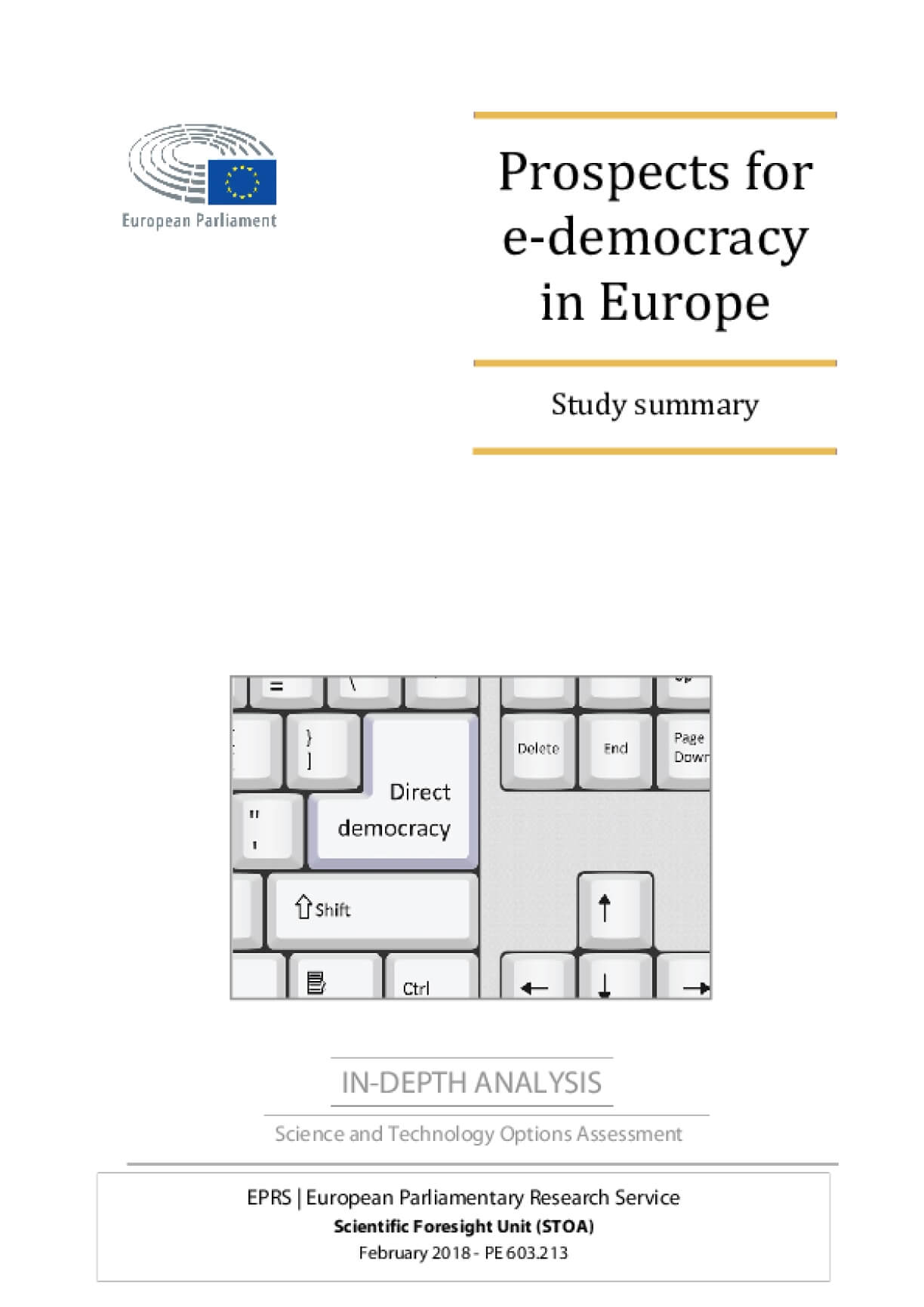 Prospects for e-democracy in Europe