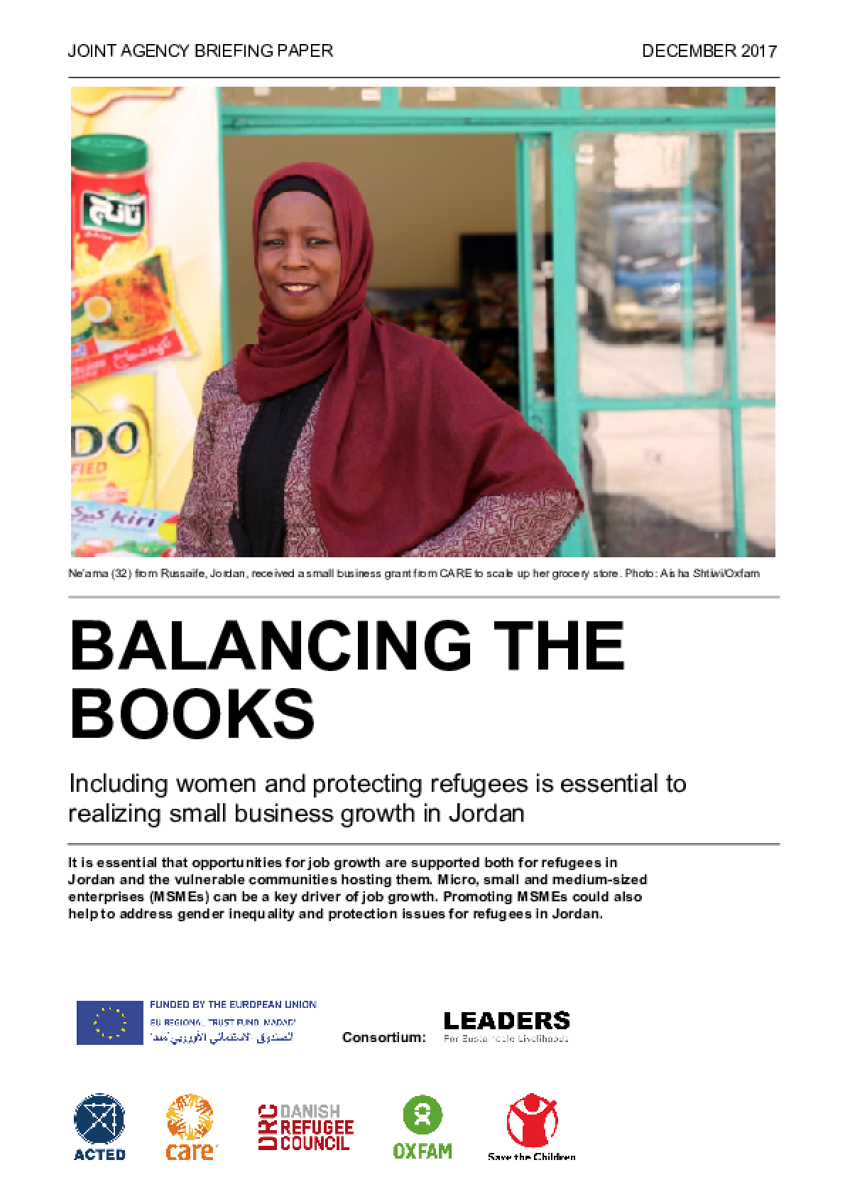 Balancing the Books: Including women and protecting refugees is essential to realizing small business growth in Jordan