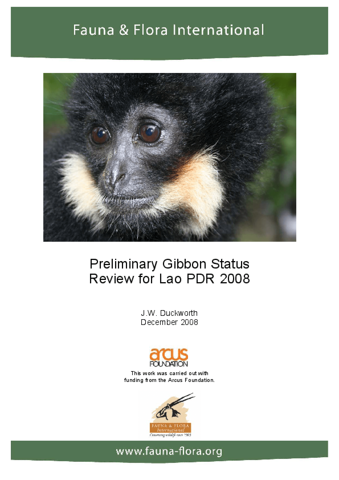 Preliminary Gibbon Status Review for Lao PDR 2008