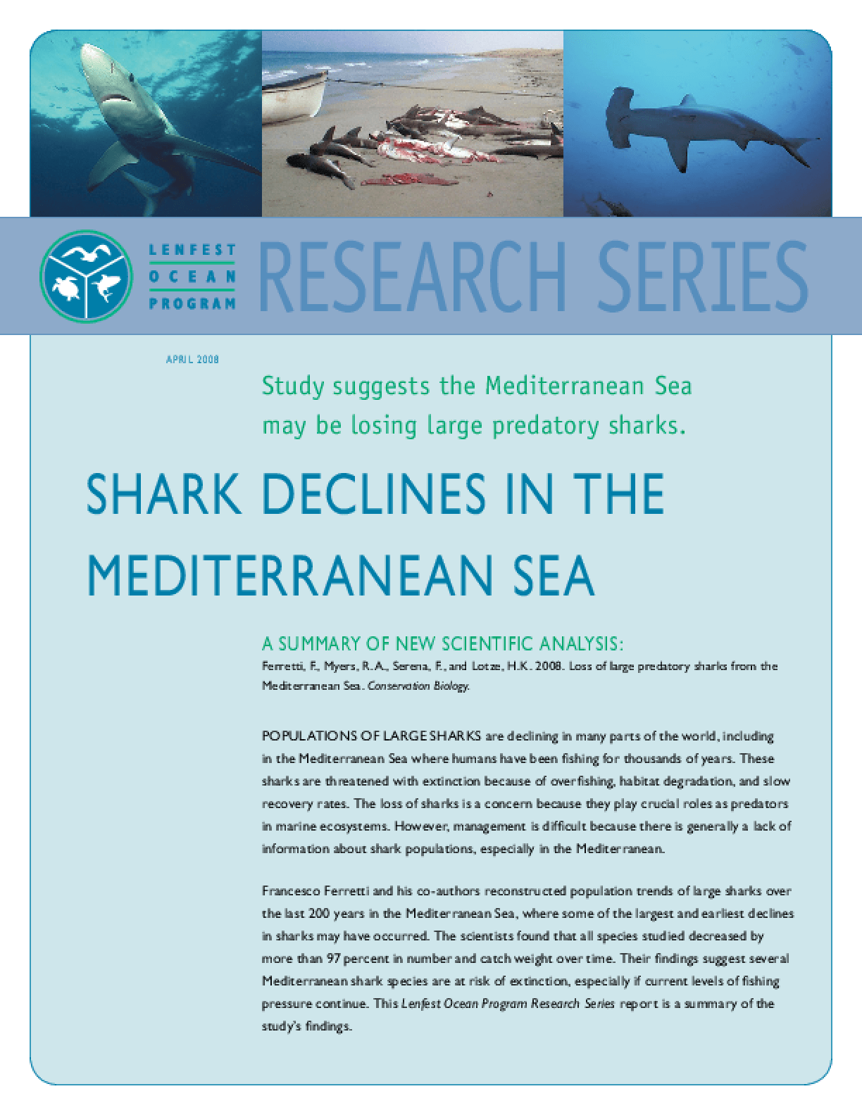 Shark Declines in the Mediterranean Sea