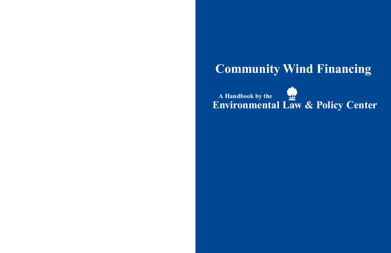 Community Wind Financing Handbook