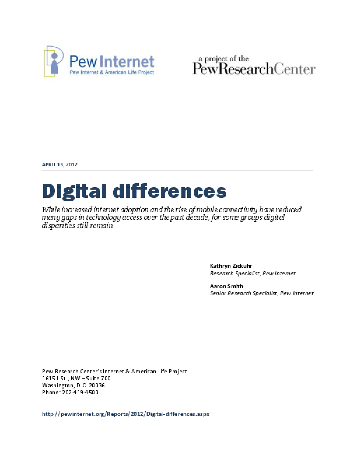 Digital Differences