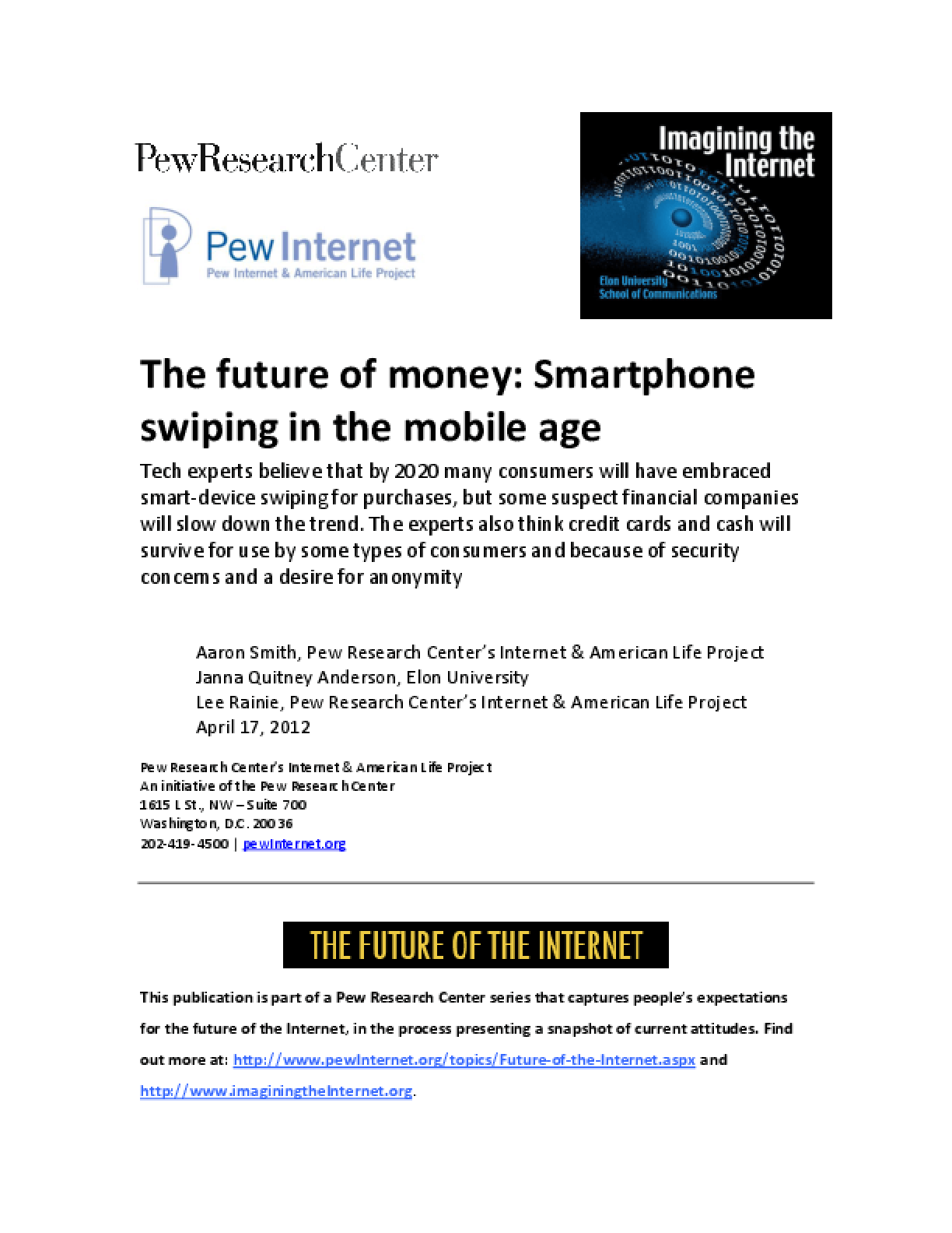 The Future of Money in a Mobile Age