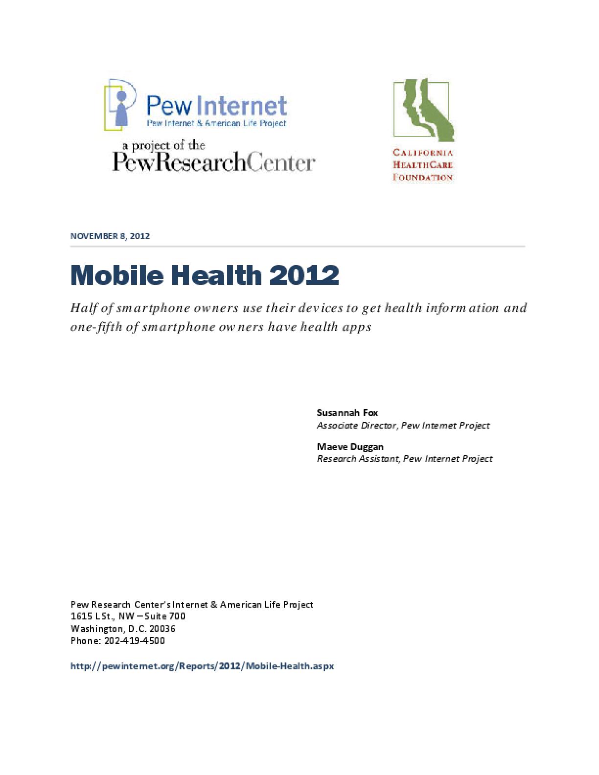 Mobile Health 2012