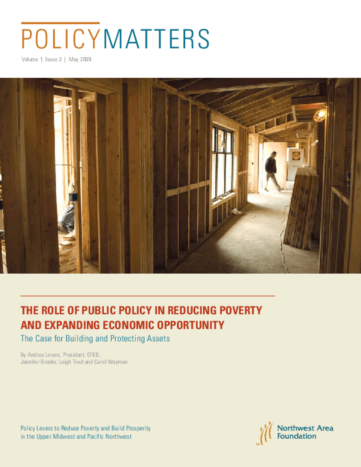 PolicyMatters: The Role of Public Policy in Reducing Poverty and Expanding Economic Opportunity