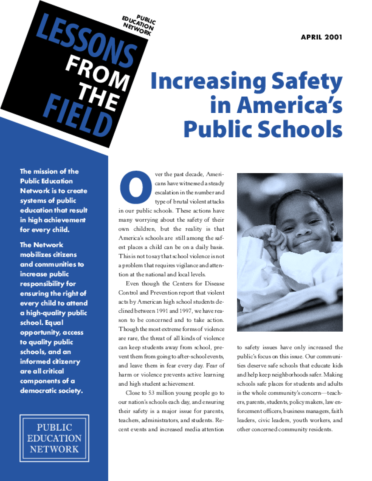 Increasing Safety in America's Public Schools