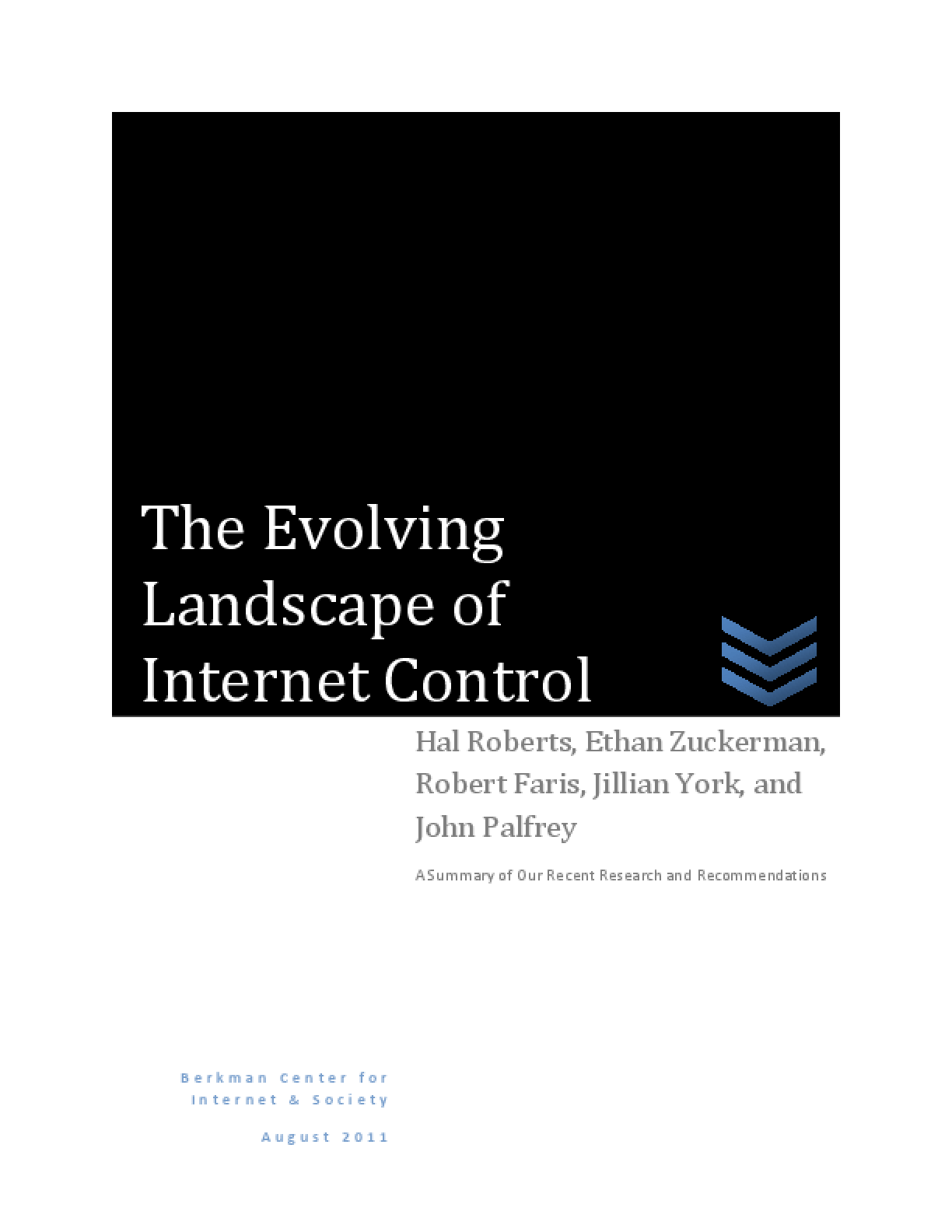 The Evolving Landscape of Internet Control