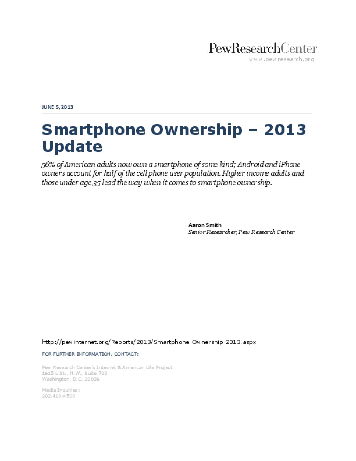 Smartphone Ownership - 2013 Update
