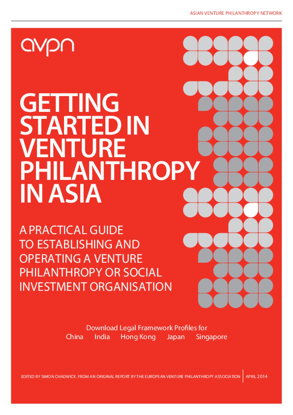 Getting Started In Venture Philanthropy In Asia