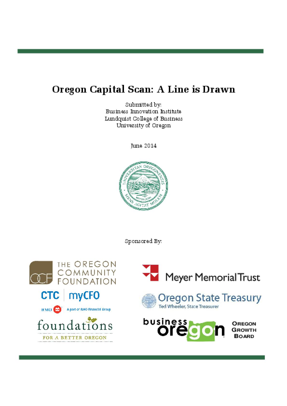 Oregon Capital Scan: A Line is Drawn