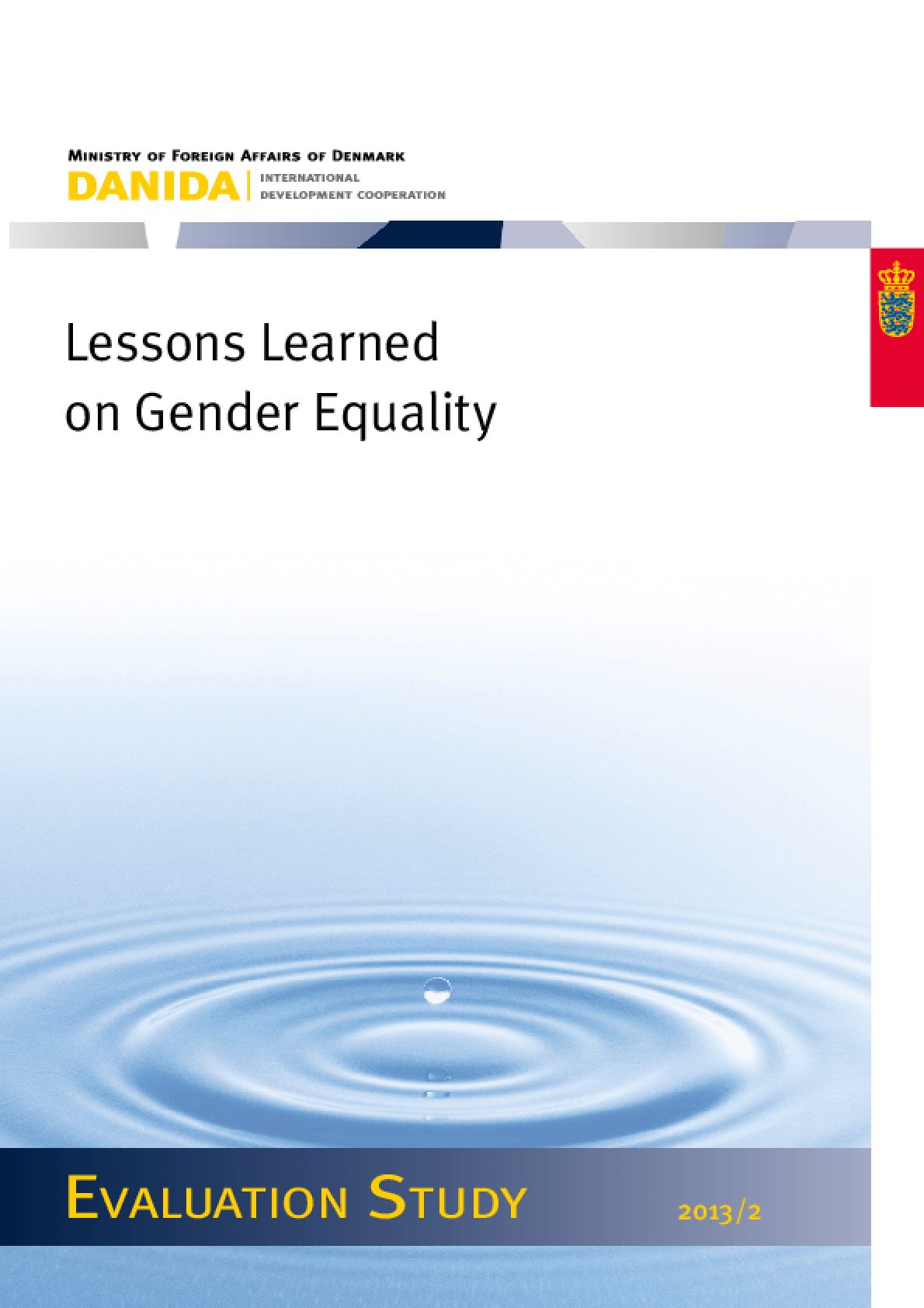 Lessons Learned on Gender Equality