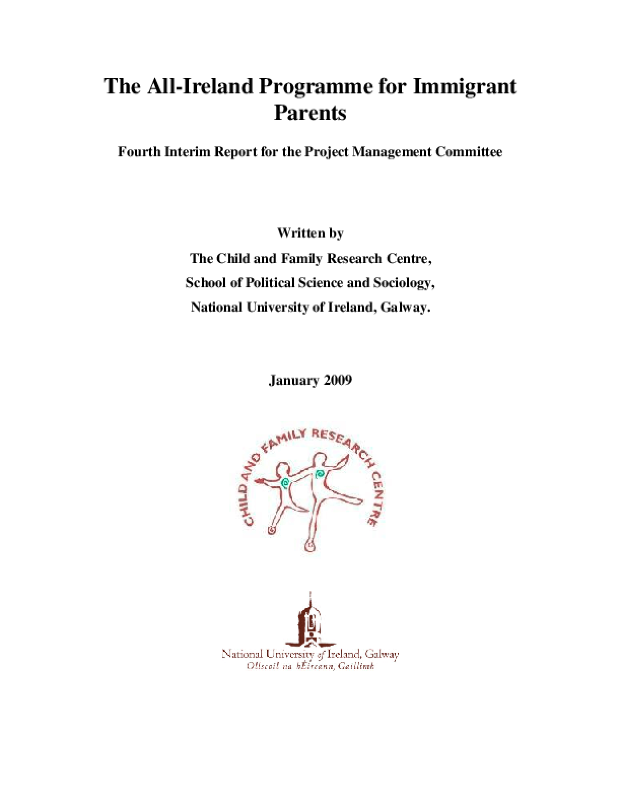 The All-Ireland Programme for Immigrant Parents: Fourth Interim Report for the Project Management Committee