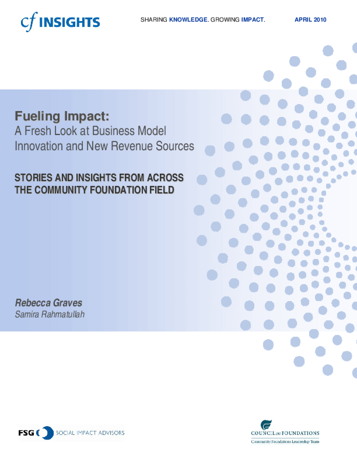 Fueling Impact: A Fresh Look at Business Model Innovation and New Revenue Sources