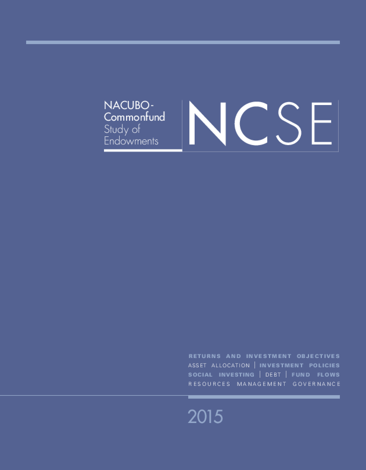 2015 NACUBO-Commonfund Study of Endowments