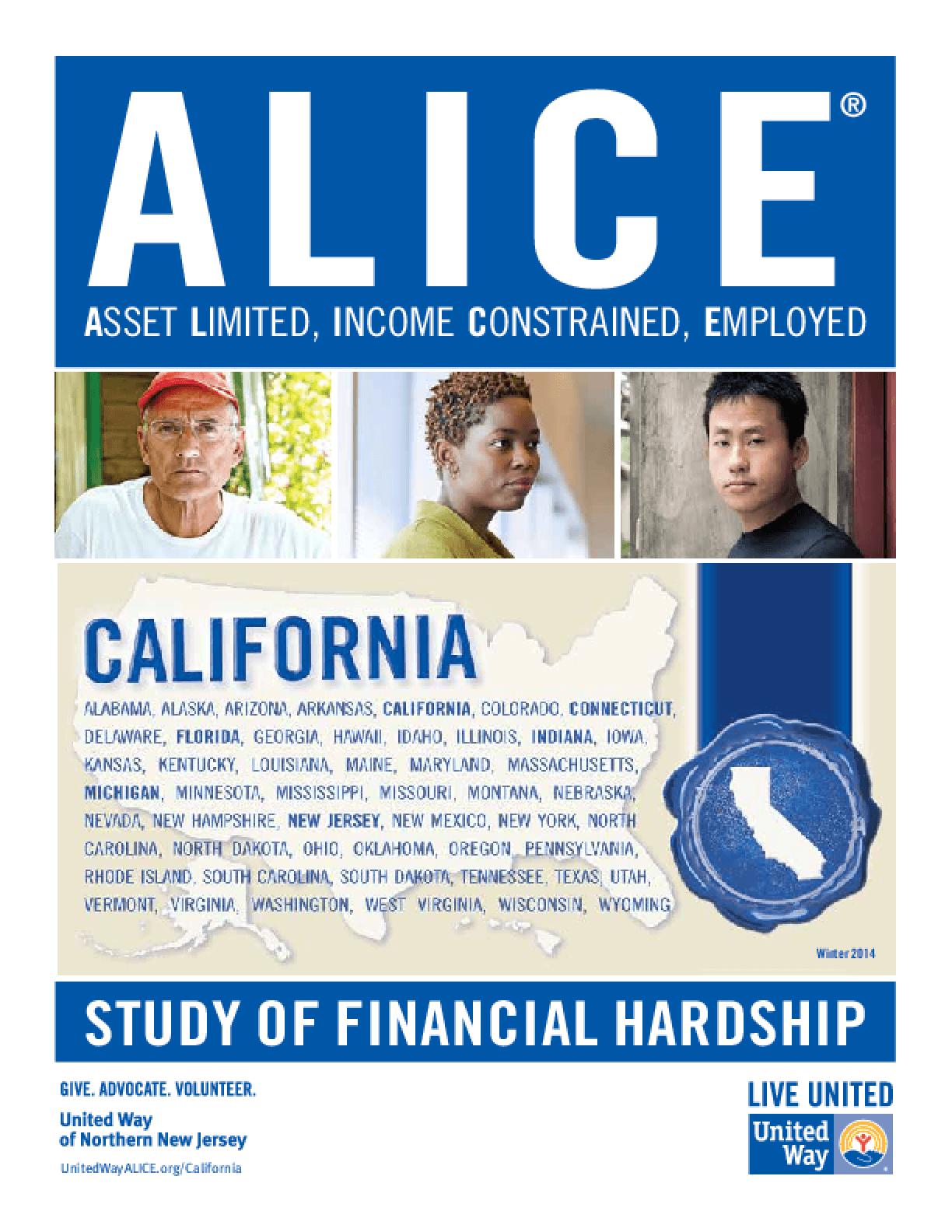 ALICE: Study of Financial Hardship-California