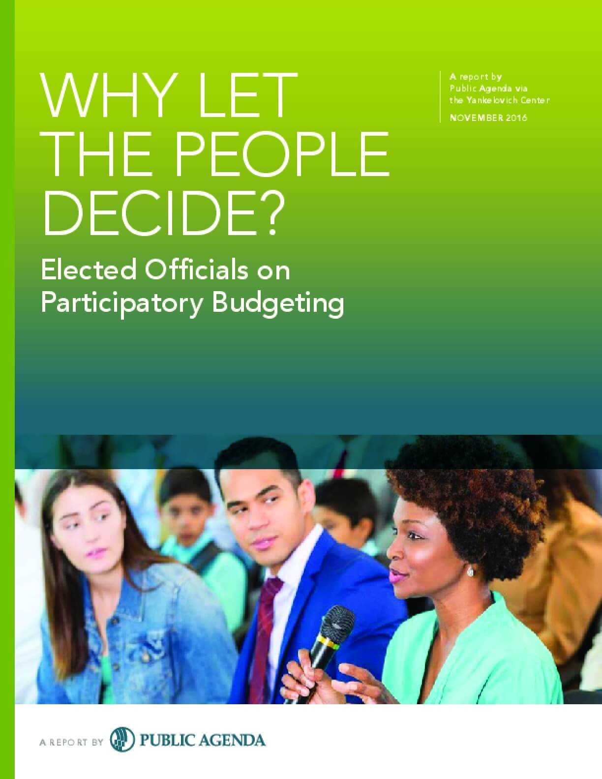 Why Let the People Decide? Elected Officials on Participatory Budgeting