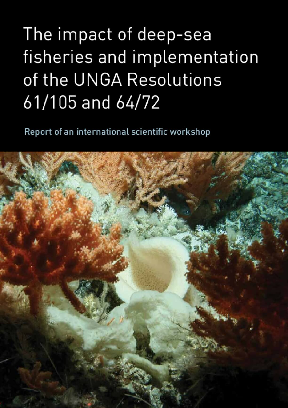The impact of deep-sea fisheries and implementation of the UNGA Resolutions 61/105 and 64/72. Report of an international scientific workshop