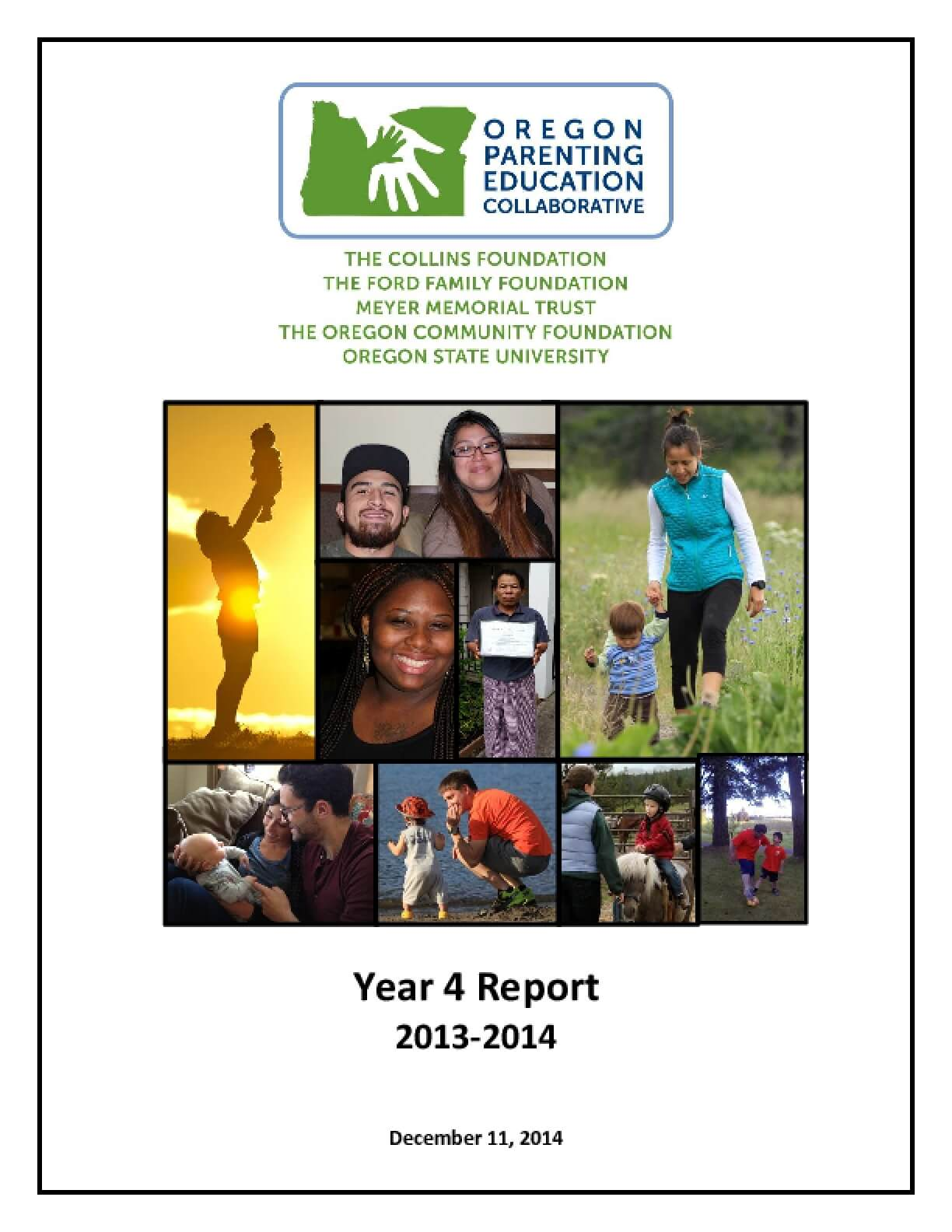 Oregon Parenting Education Collaborative Year 4 Report 2013-2014