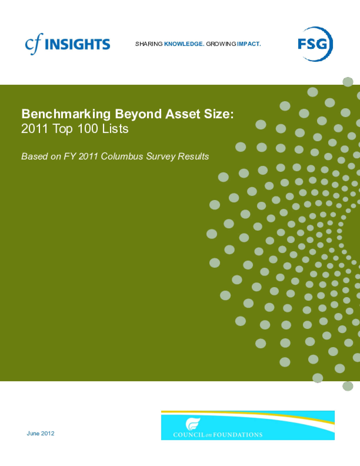 Benchmarking Beyond Asset Size Top 100 Lists - FY 2011
