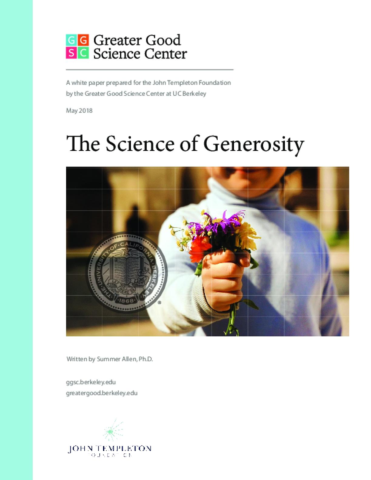 The Science of Generosity