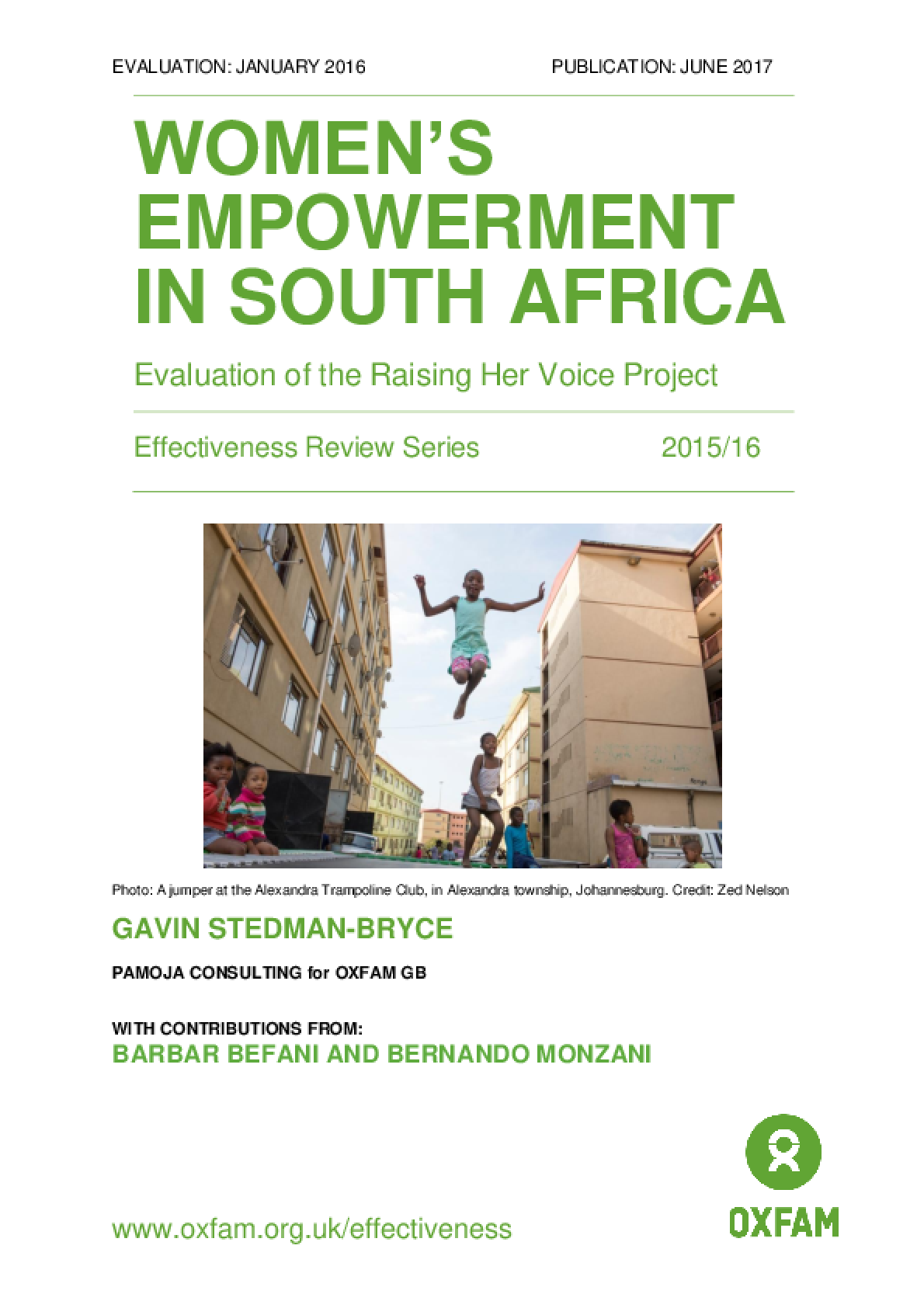 Women's empowerment in South Africa: Evaluation of the Raising Her Voice project
