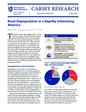Rural Depopulation in a Rapidly Urbanizing America