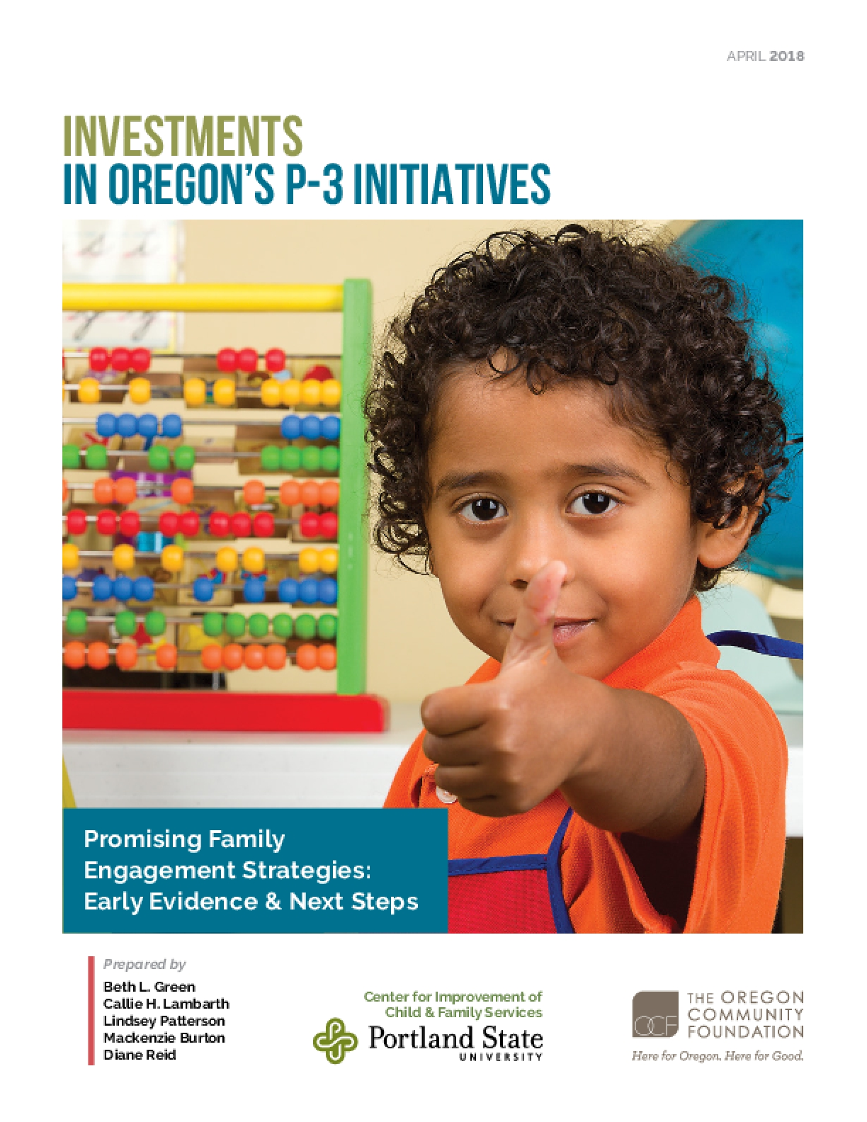 Investments in Oregon's P-3 Initiatives
