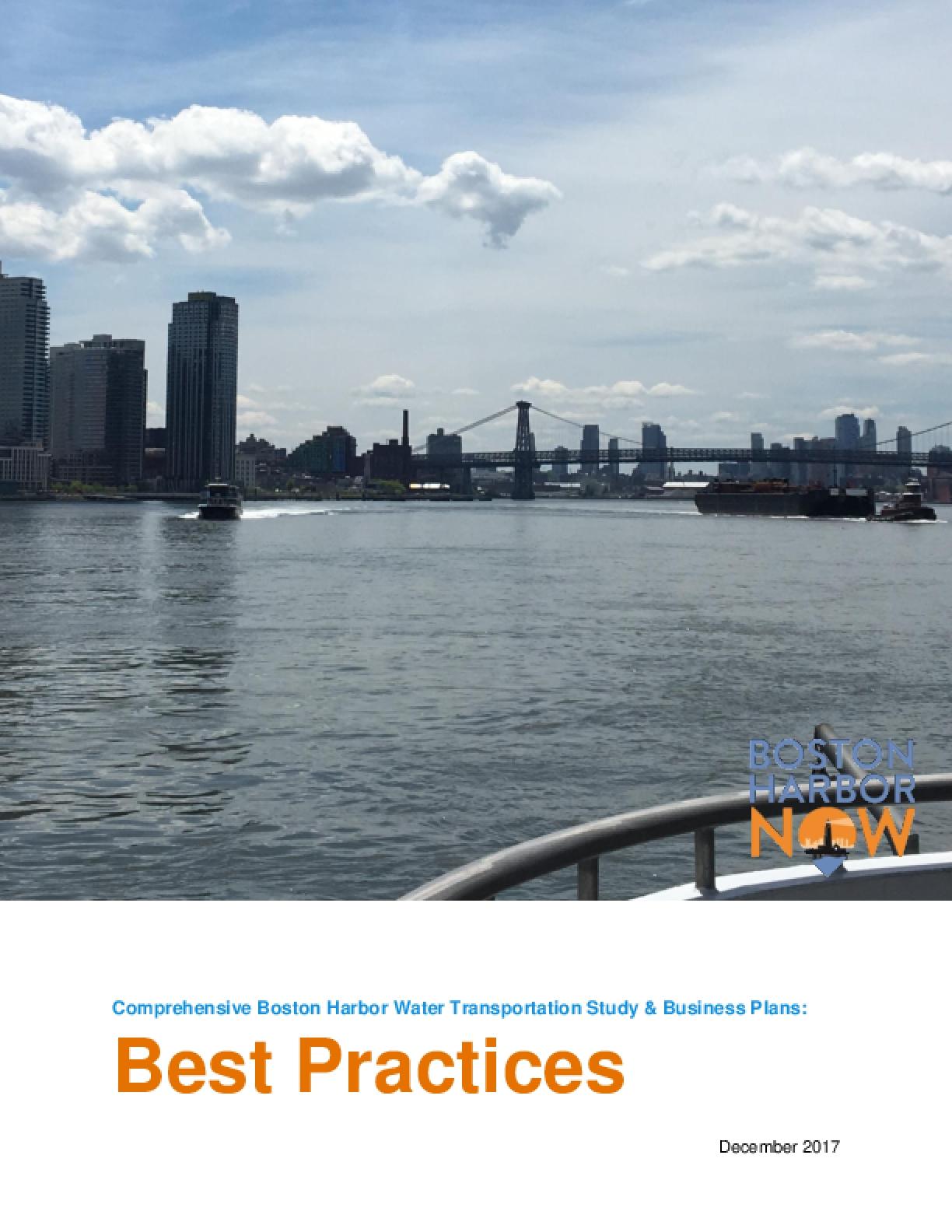 Comprehensive Boston Harbor Water Transportation Study & Business Plan: Best Practices