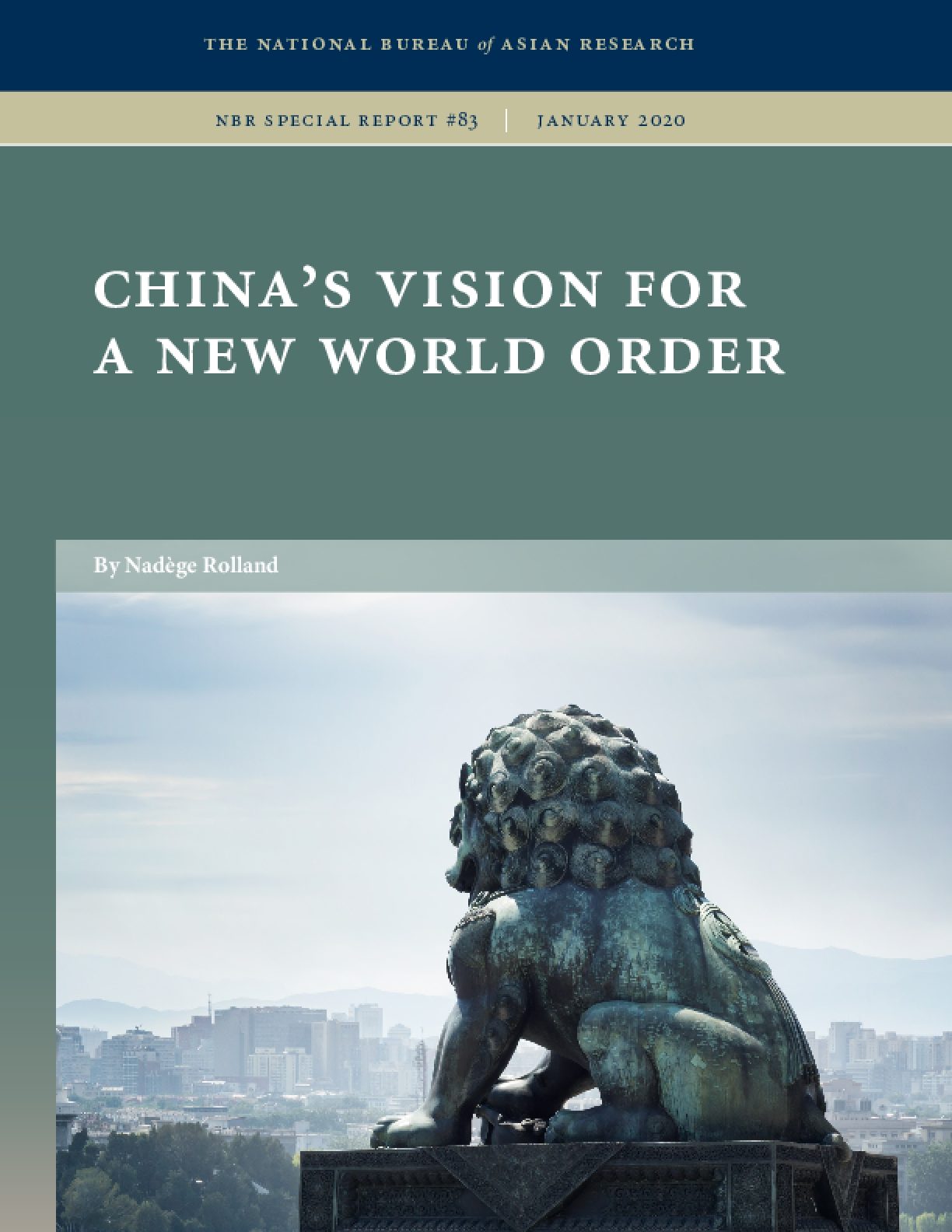 China's Vision for a New World Order