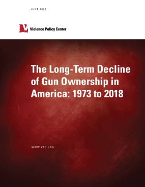 The Long-Term Decline of Gun Ownership in America: 1973 to 2018 (published June 2020)