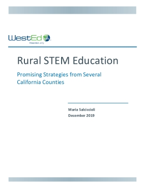 Rural STEM Education: Promising Strategies from Several California Counties