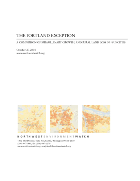 The Portland Exception: Sprawl, Smart Growth, and Rural Land Lost in 15 Cities