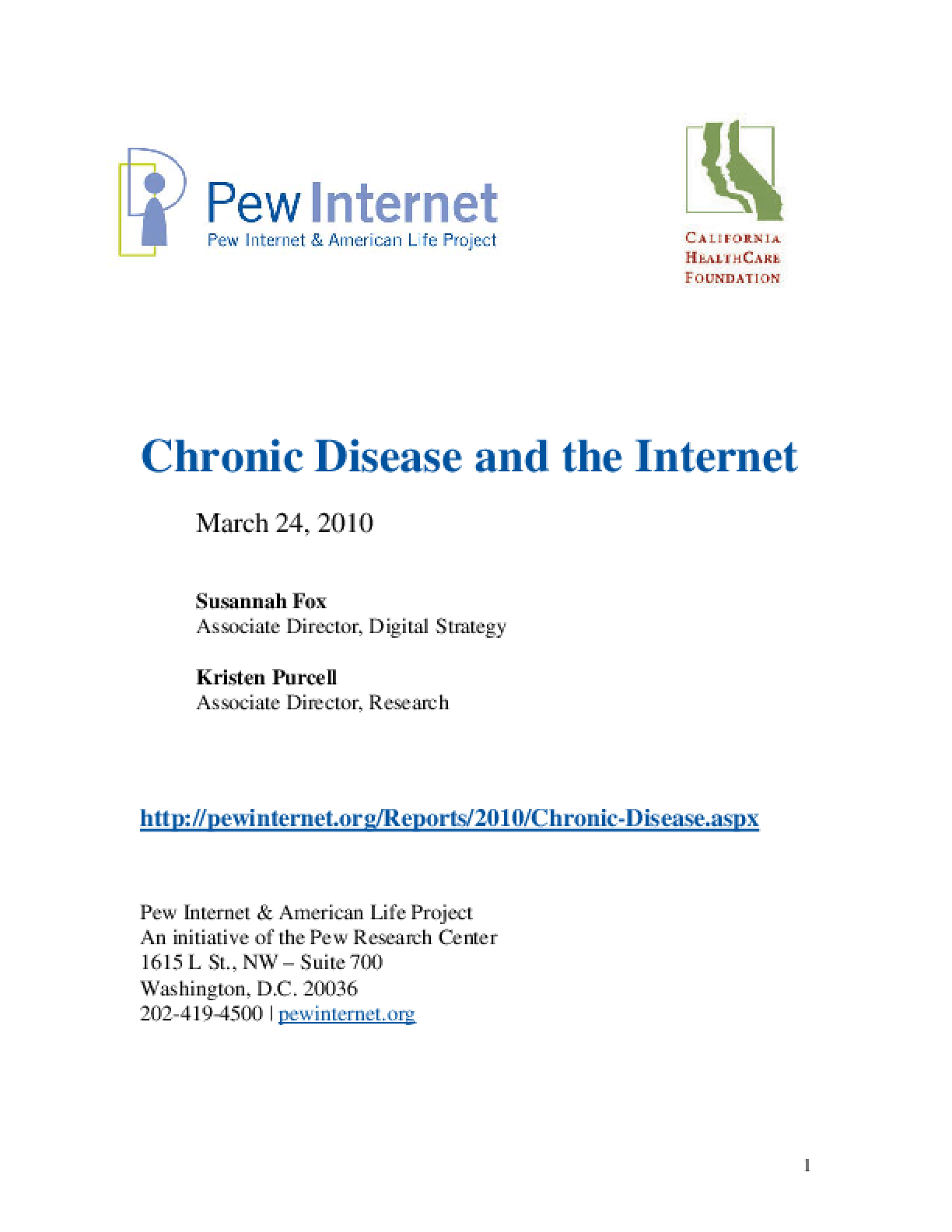 Chronic Disease and the Internet
